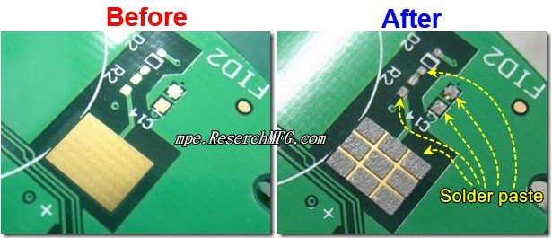 How to print solder paste on PC Board and screen printing